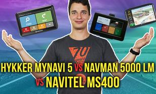 Hykker myNavi 5, Navman 5000 LM i Navitel MS400 - Porównanie Tanich Nawigacji GPS