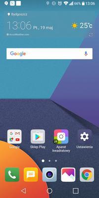 Test LG G6 zrzut ekranu