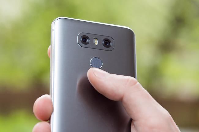 Czytnik linii papilarnych w LG G6