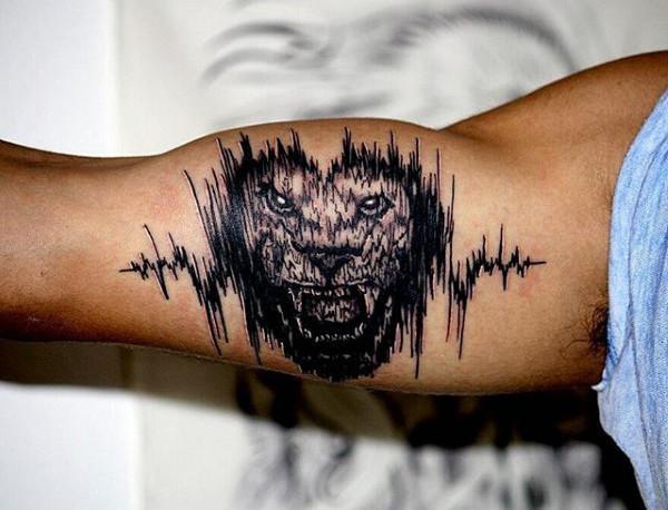 Ryczący lew - tatuaż dźwiękowy
