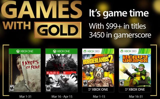Games With Gold Marzec 2017