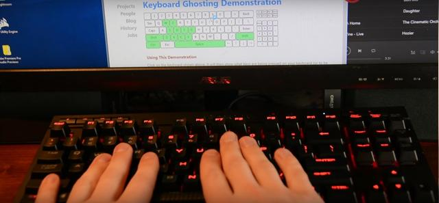 Ghosting Test - Corsair Gaming K63