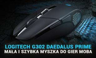 Logitech G302 Daedalus Prime - Mała i Szybka Myszka do Gier MOBA