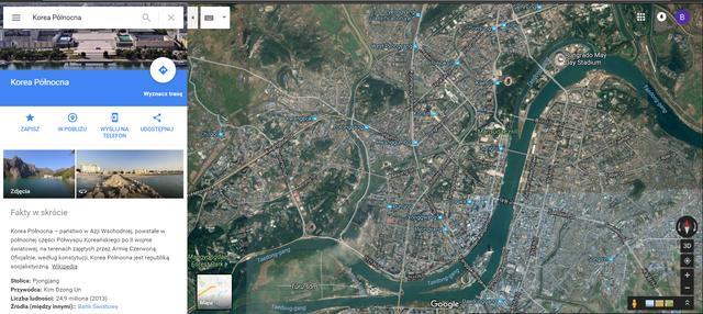 pyongyang pjongjang mapa google