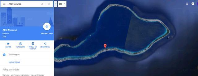 atol muruoa hidden ukryty google maps zakryte miejsca
