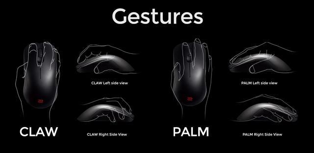 typy chwytu myszki dla graczy