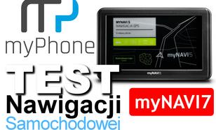 myPhone myNavi7 - Recenzja Nawigacji GPS