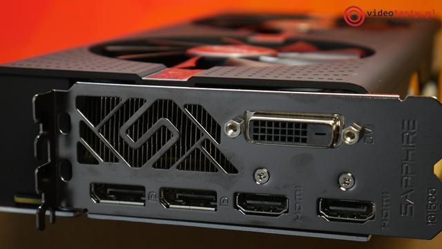 Sapphire Nitro 570 4GB wszystkie złącza