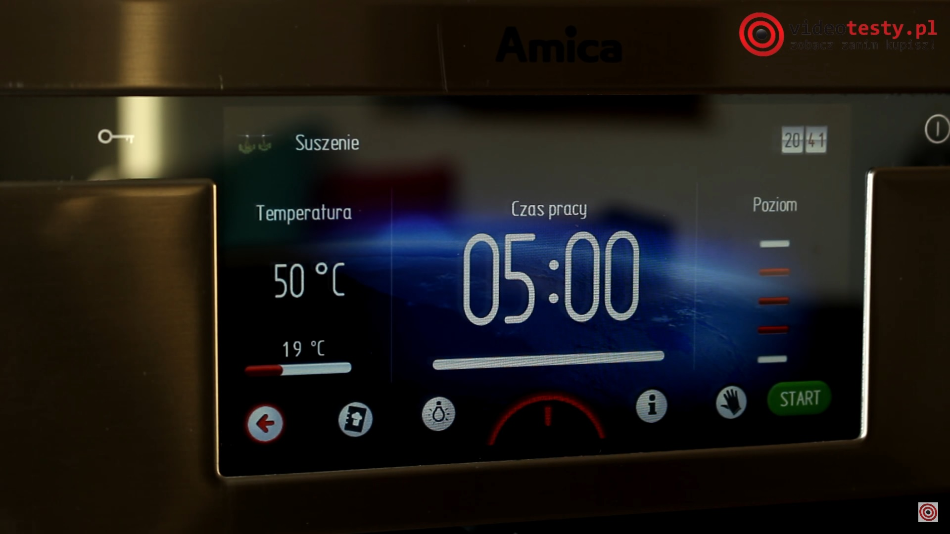 Programy podstawowe - Amica Integra Smart EBI 712104AA pyro