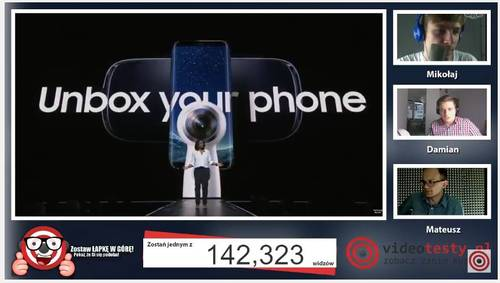 Premiera Samsunga Galaxy S8 - Live Videotesty 8