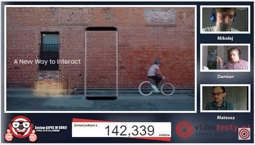 Premiera Samsunga Galaxy S8 - Live Videotesty 14