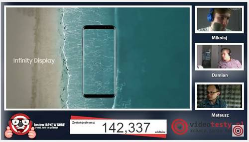 Premiera Samsunga Galaxy S8 - Live Videotesty 23