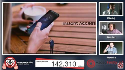 Premiera Samsunga Galaxy S8 - Live Videotesty 28